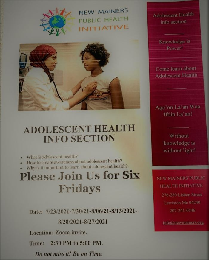 Our adolescent health info session