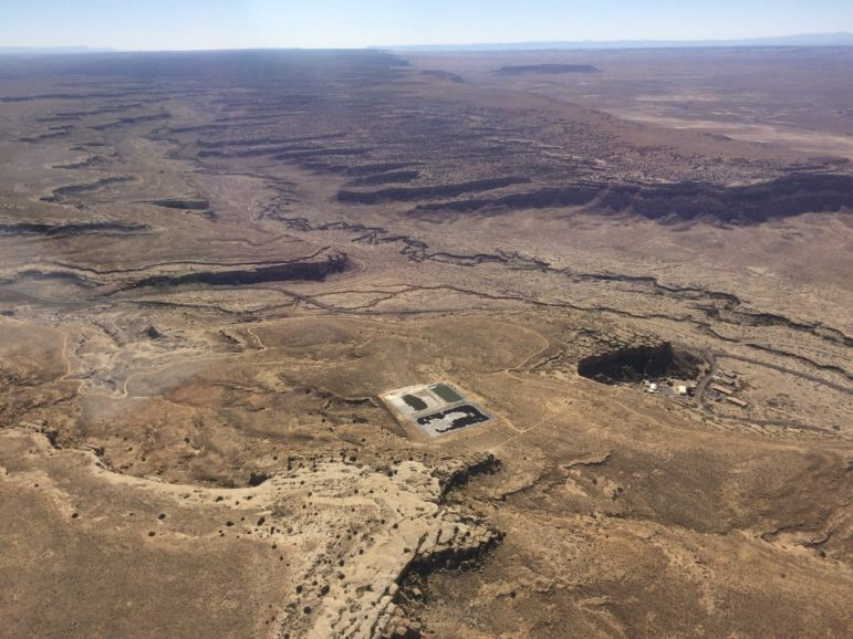 Waste ponds near Chaco Canyon in northwestern New Mexico.