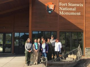 NMSC staff with FOST curatorial staff at Fort Stanwix National Monument.