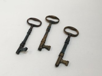 Brass keys from museum collection at FOST.