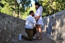Oscar Gracia and Margarita Ibarra, Sunday, April 30, 2017, at memorial park posing for maternity pictures.