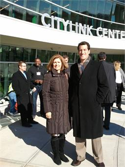 Kathy Schwab and Matt Josephs of LISC at CityLink Center