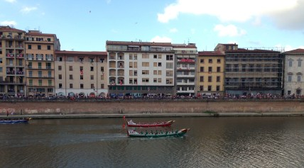 The Palio of the Four Ancient Maritime Republics along the Arno River in Pisa
