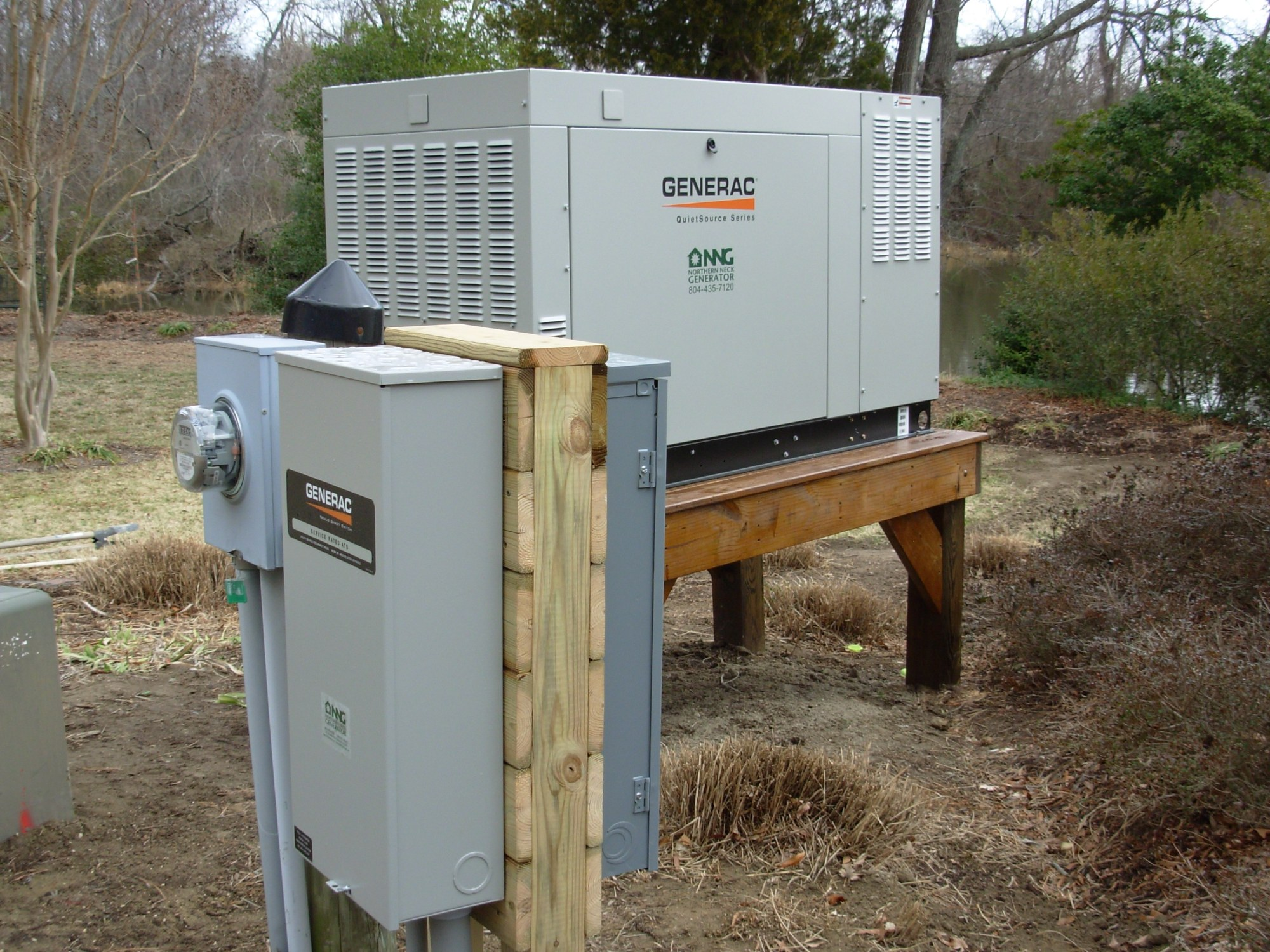 hight resolution of  wiring diagram generac 48kw generator on raised platform and 200 amp transfer switch installed by northern neck generator