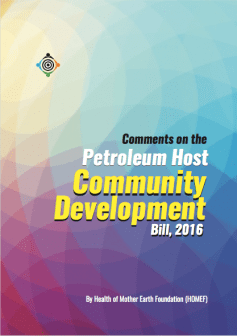 HOMEF's Comments on the Petroleum Host Community Bill 2016