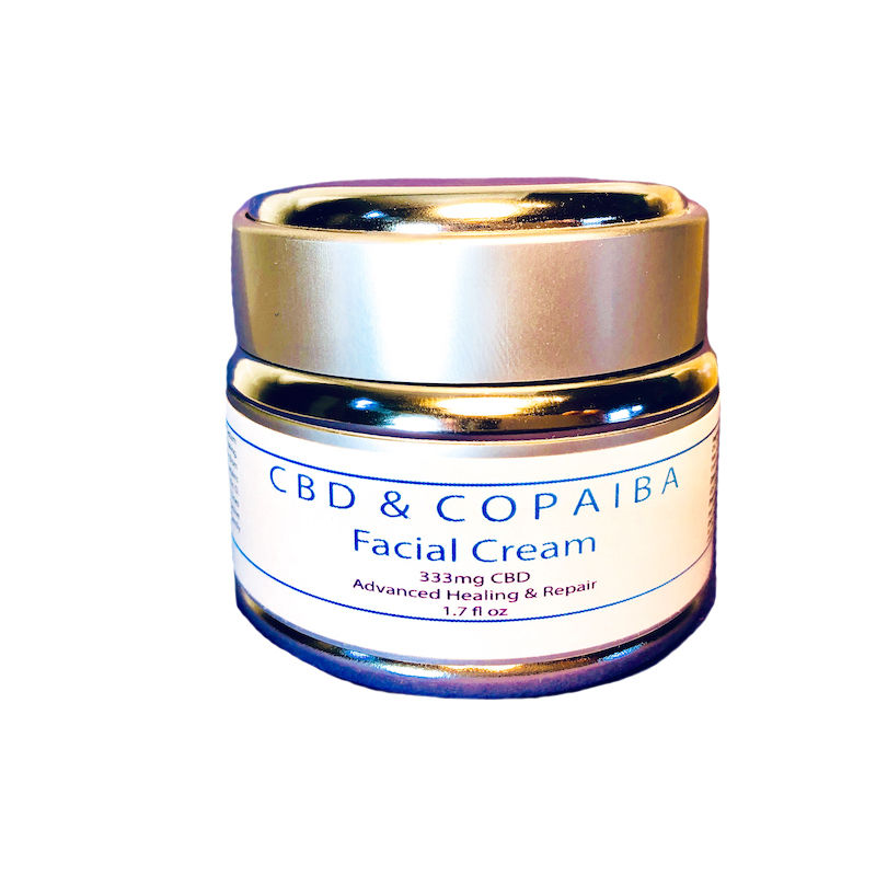 Facial cream in the