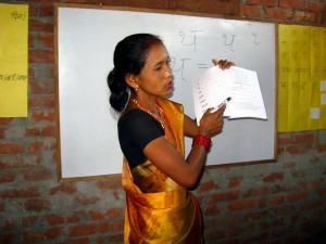 Rajbanshi literacy teacher training