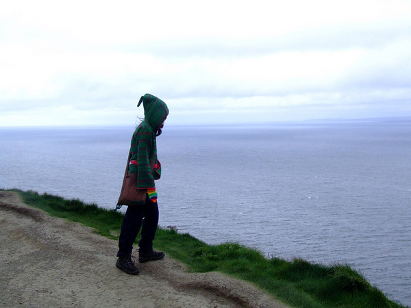 Did a lemming just head down there? Me @ the Cliffs of Moher, Ireland, Oct 2009.