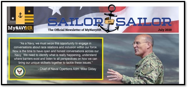 Sailor to Sailor – My Navy HR Newsletter