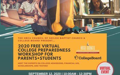 HBCU 2020 Free Virtual College Preparedness