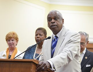 Wade Henderson, the president and CEO of The Leadership Conference on Civil and Human Rights says that Continuing policies that fail to prepare all students for college and careers is an immoral and self-defeating choice that stunts our nation's economic potential — and mocks our democratic ideals. Photo taken during a press conference about the 2014 Voting Rights Amendment Act on Capitol Hill. (Freddie Allen/AMG/NNPA)