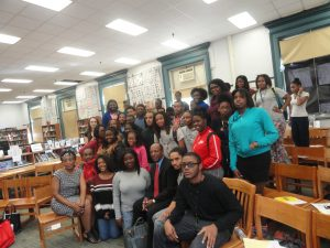 HistoryMaker Jesse White visits Lincoln Park High School in Chicago as part of the 2014 Back to School Day. (Courtesy Lincoln Park High School)