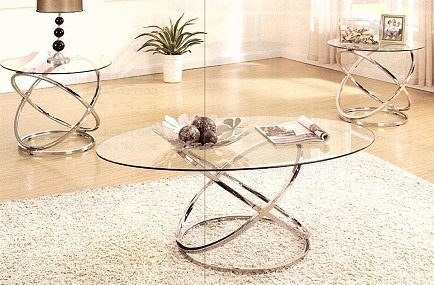 Tempere Glass Top Coffee Table Set Of Three Nnr International Furniture