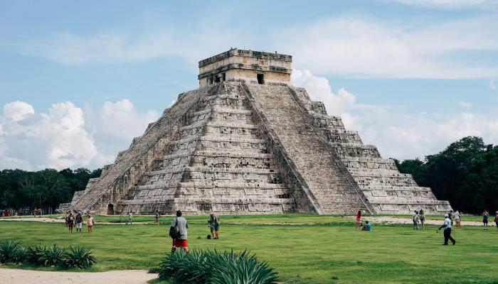 temple pyramid in Mexico
