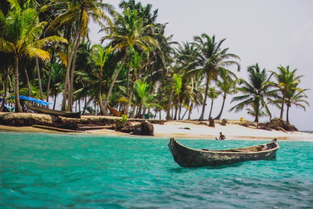 canoe on Panama beach
