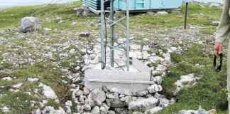 A radio tower sits on top of a site the Nahanni Butte Dene Band says is spiritually significant. - photo courtesy of the Nahanni Butte Dene Band