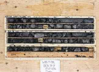 These core samples were recently collected at Pine Point by Darnley Bay Resources Ltd. - photo courtesy of Darnley Bay Resources Ltd.