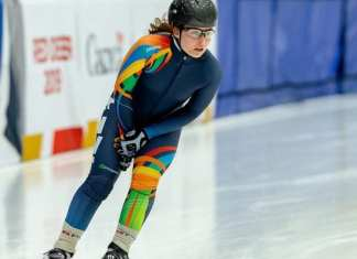 Wren Acorn was arguably Team NT's top athlete in week one of the Canada Winter Games in Red Deer, Alta., in terms of results with three top-10 finishes in speedskating. Andre Harms/Canada Winter Games photo