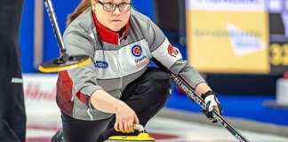 Kerry Galusha delivers a rock during action at the Scotties Tournament of Hearts in Sydney, N.S., late last month. Missing out on the championship round at this year's event was a stinger for Galusha, she said. Andrew Klaver/Curling Canada photo