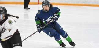 Danica Taylor, seen during the 2018 National Aboriginal Hockey Championships in Membertou, N.S., was part of the Team North girls squad that finished sixth in this year's championships in Whitehorse. photo courtesy of Laisa Kilabuk