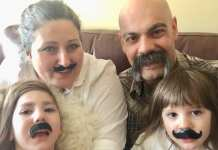 Ruth and Chris McNaughton will be holding a charity fundraising event to help raise funds to cover the cost of a specialized surgery their daughter, Mikaela, recently had in Texas. Chris will be shaving his moustache and their son Matthias will be getting his first haircut. From the left, back, Ruth McNaughton, Christ McNaughton. Front left, front, Mikaela and Matthias McNaughton. Courtesy of Ruth McNaughton