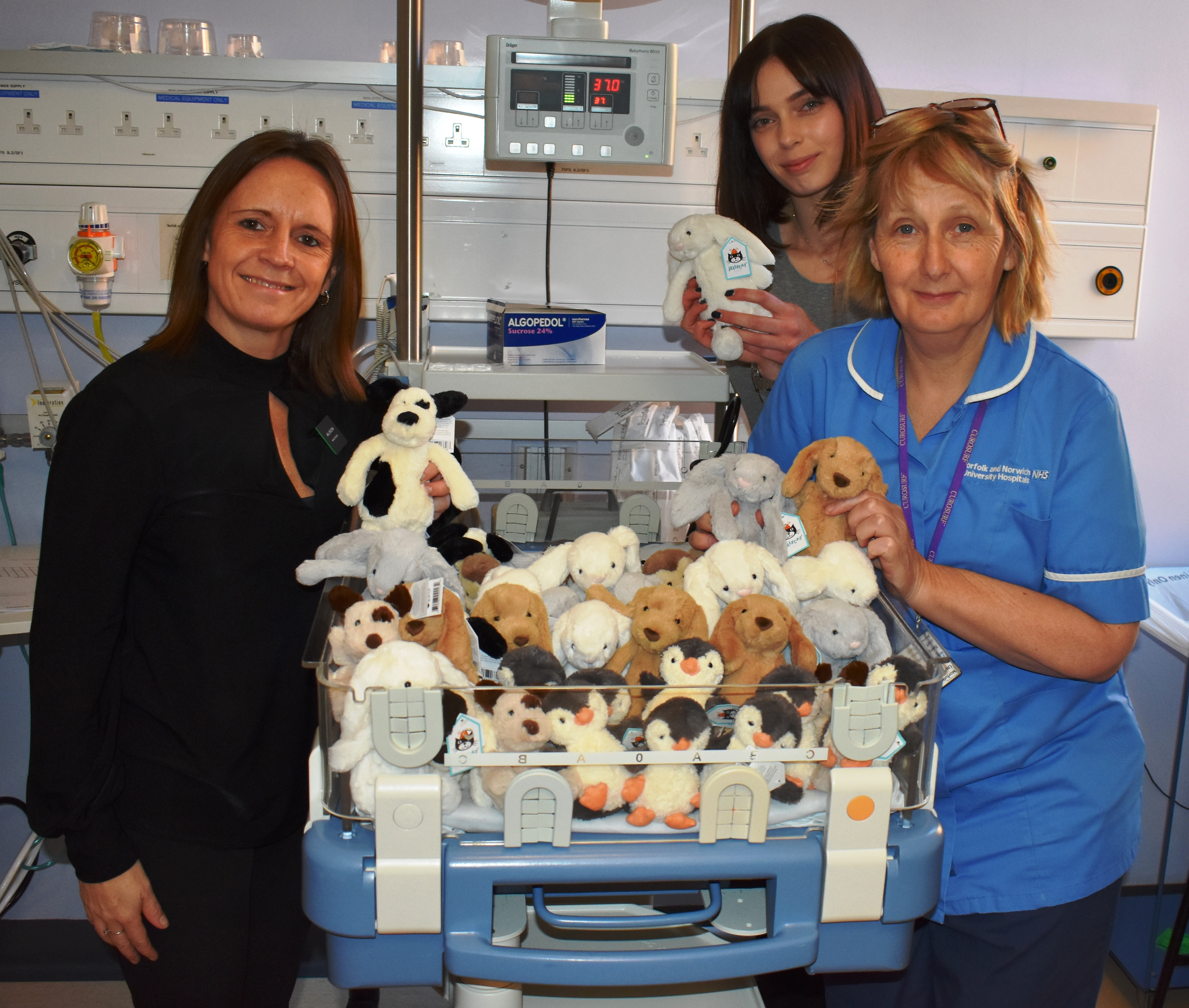 John Lewis staff make special delivery to NICU