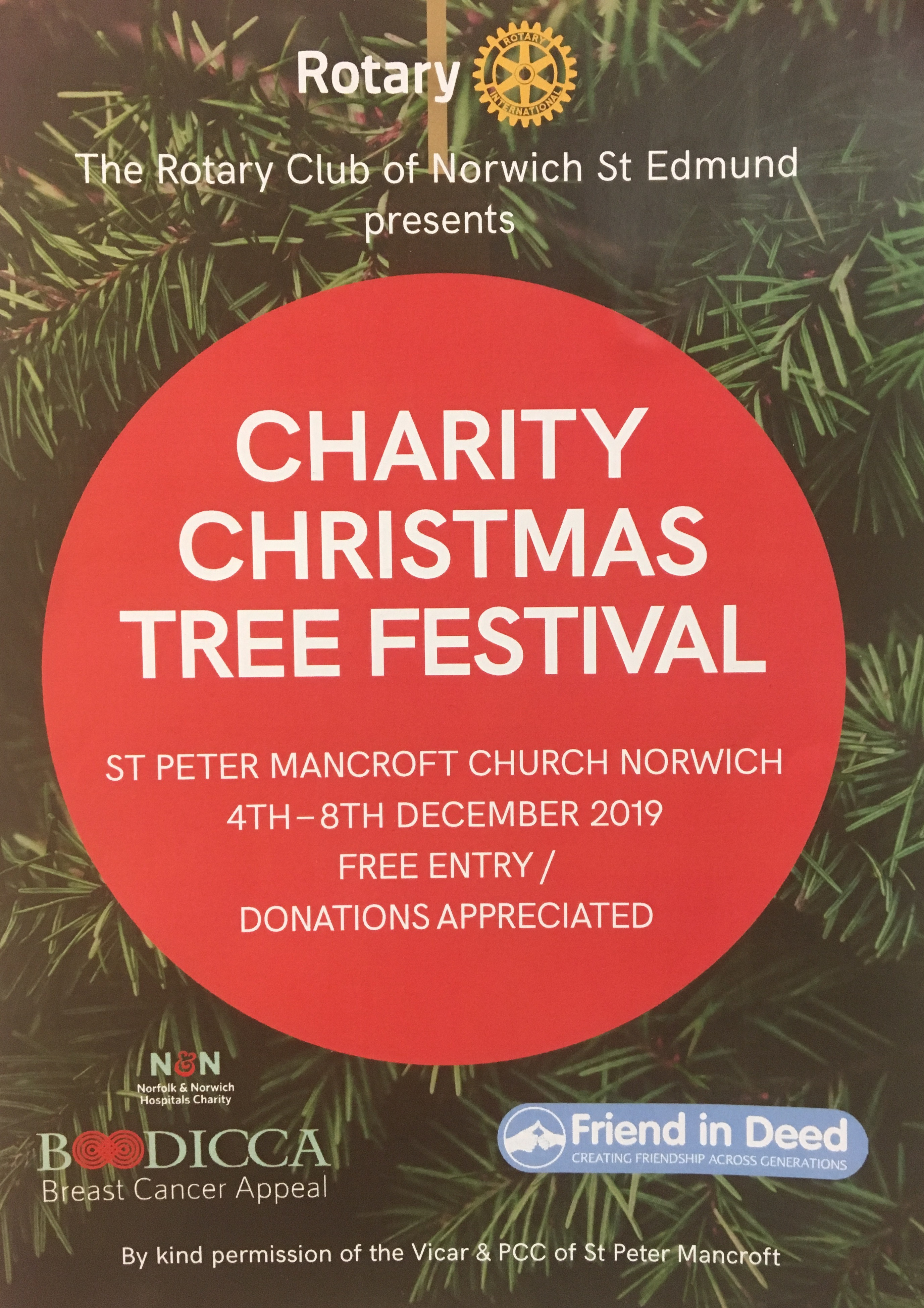 Charity Christmas Tree Festival supports Boudicca