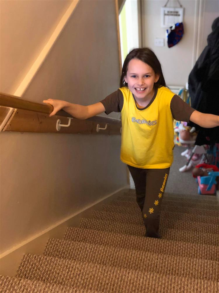 Nine-year-old Phoebe climbing high for hospital charity