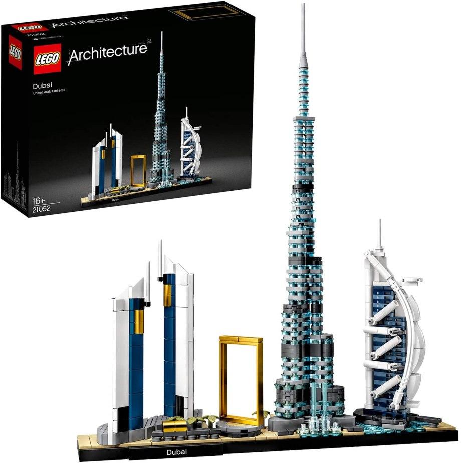 高層建築が特徴的なLEGO(レゴ)アーキテクチャーシリーズ「ドバイ」の参考画像
