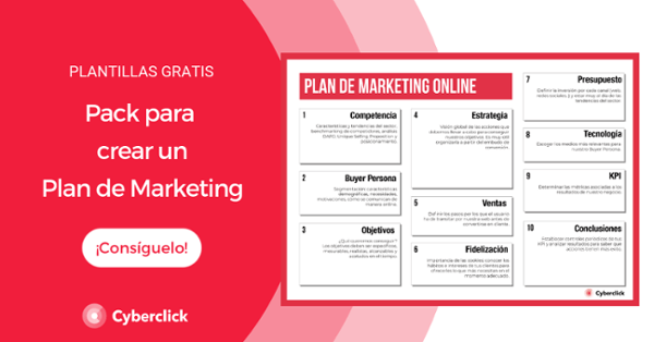Pack of templates to create an effective marketing plan