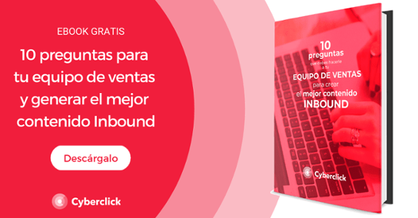 Ebook: 10 questions for your sales team and generate the best inbound content