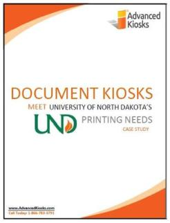 Touch Screen Printing Kiosks for the University of North Dakota