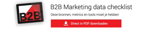 B2B Marketing data checklist