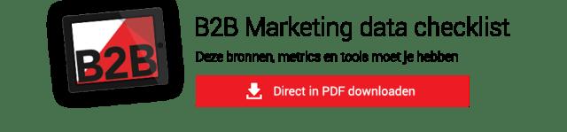 B2B Marketing data checklist