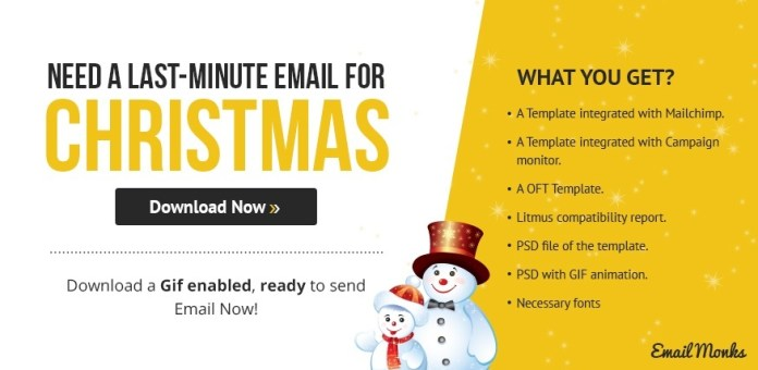 Christmas Email free Template