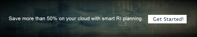 Save more than 50% on your cloud with smart RI planning.