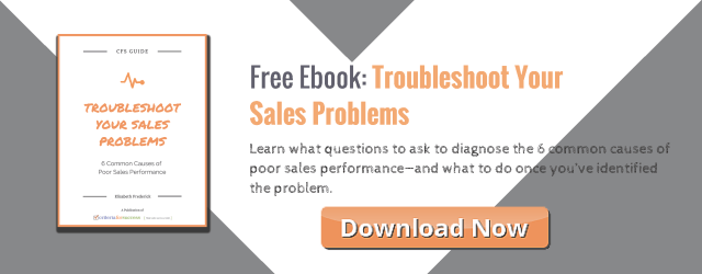 Free eBook: Troubleshoot Your Sales Problems