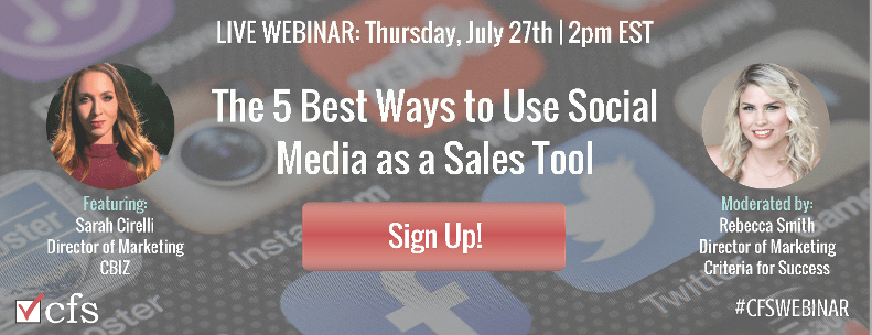 Free Webinar: The 5 Best Ways to Use Social Media as a Sales Tool
