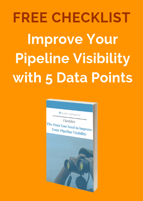 Free checklist: Improve your pipeline visibility with 5 data points
