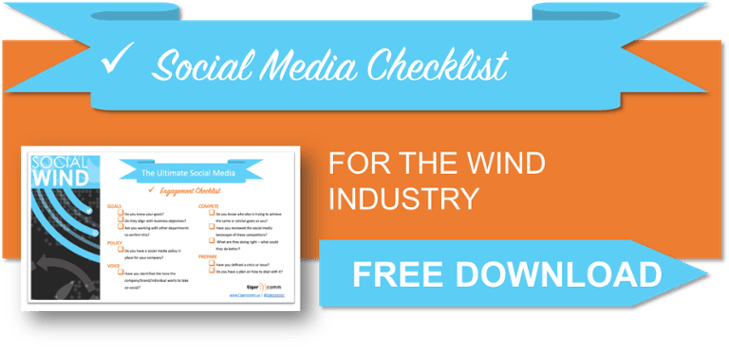 Social Media for the Wind Industry Checklist Free Download