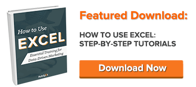 free guide: how to use excel