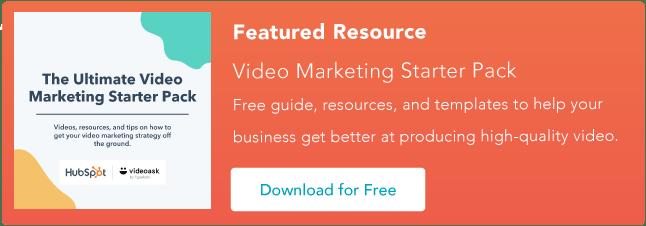video marketing starter pack