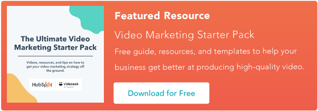 video marketing starter pack