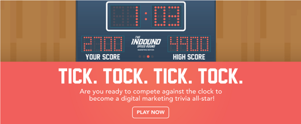 Play Inbound Speed Round, a marketing trivia game by HubSpot Academy.