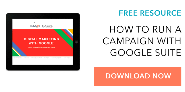 Check out this free ebook on running effectibe marketing campaigns using GSuite.