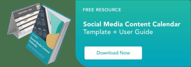 free social media content calendar