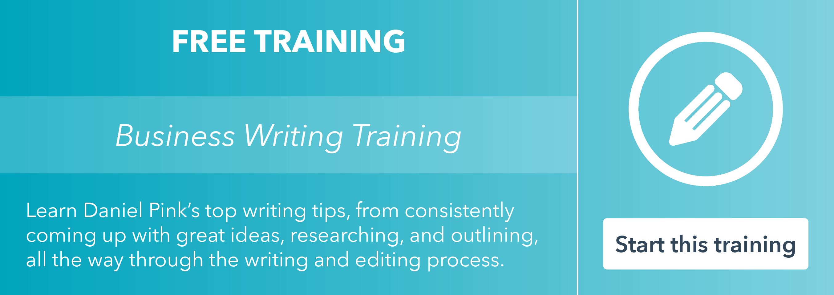 Take the free business writing training by HubSpot Academy