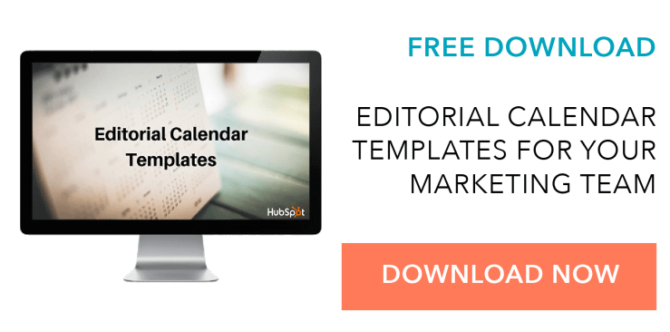 marketing editorial calendar