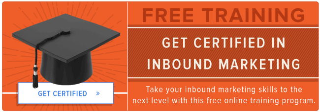 get certified in inbound marketing