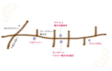 旧軽銀座 地図